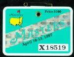 1997 Masters Badge - Tiger Woods 1st Major Win