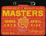 1972 Masters Badge Ticket - Jack Nicklaus