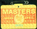1975 Masters Badge Ticket (with rules sheet) - Jack Nicklaus