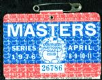 1976 Masters Badge Ticket (with rules sheet) - Raymond Floyd