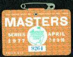 1977 Masters Badge Ticket - Tom Watson