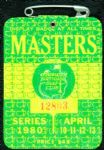 1980 Masters Badge Ticket - Seve Ballesteros