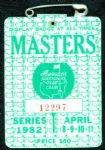 1982 Masters Badge Ticket - Craig Stadler