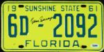 Gene Sarazen Signed Florida License Plate (PSA/DNA)