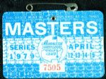1979 Masters Badge Ticket - Fuzzy Zoeller