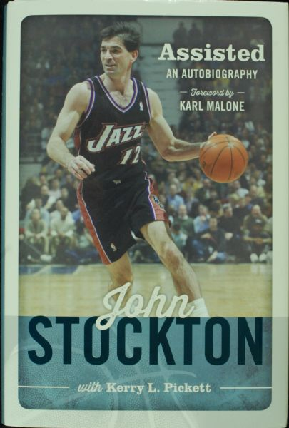John Stockton Signed Assistsed Book (PSA/DNA)