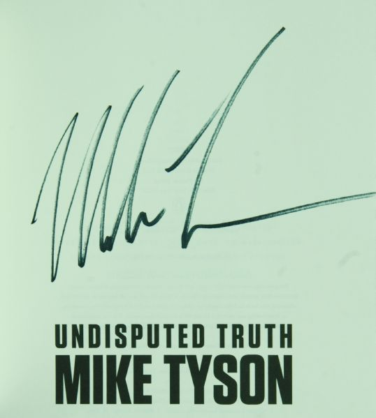 Mike Tyson Signed Undisputed Truth Book (PSA/DNA)