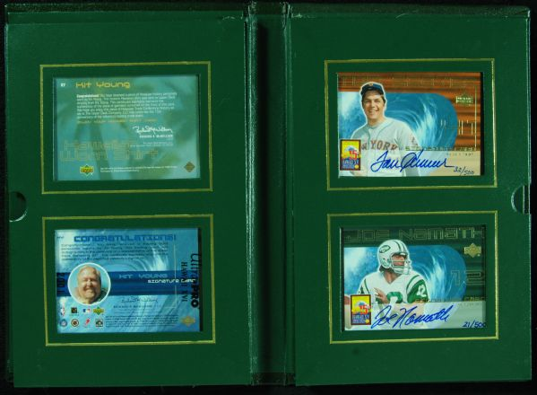 Multi-Signed Upper Deck Kit Young Show Book with Namath, Howe, Seaver, Erving & Kit Young (500)