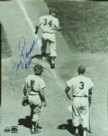 "Jimmy Piersall Signed 8x10 Photo Inscribed ""#100"""