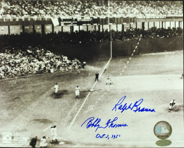 Ralph Branca & Bobby Thomson Signed 8x10 Photo Oct. 3, 1951