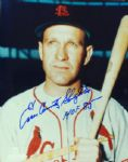 "Enos Slaughter Signed 8x10 Photo ""HOF 85"""