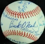 Negro Leaguer Multi-Signed ONL Baseball (12) with ONeil, Newcombe, Irvin, Gibson