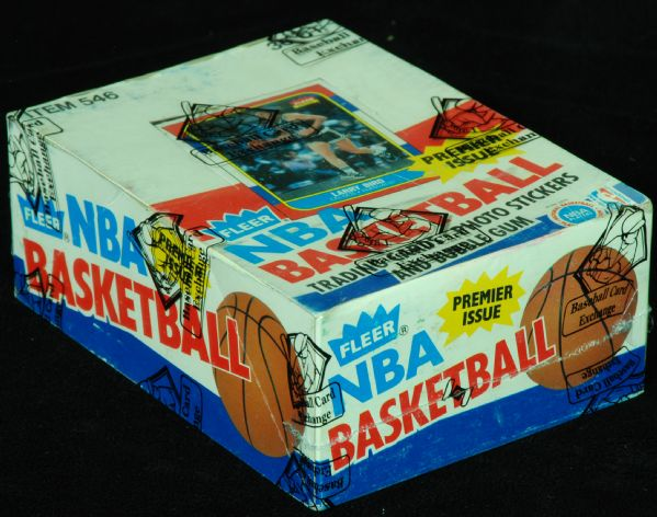 1986-87 Fleer Basketball Wax Box (36) (BBCE)