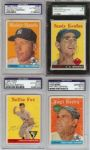 1958 Topps Baseball Signed Starter Set (346) with 18 HOFers