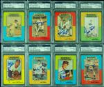 1980 Baseball Immortals Signed Near Set (55) (All PSA/DNA Slabbed)