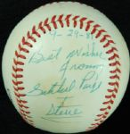 "Satchel Paige Single-Signed Rawlings Baseball Dated ""9-29-81"" (JSA)"