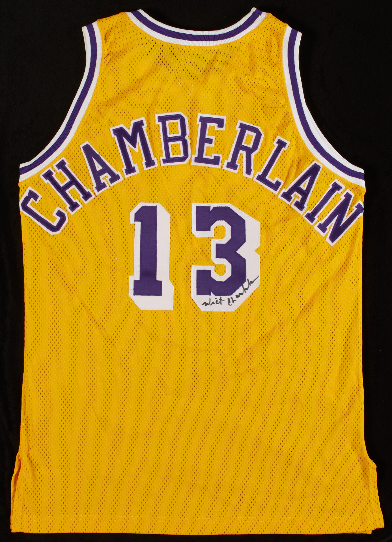 Lot Detail - Wilt Chamberlain Signed Lakers Jersey (JSA)