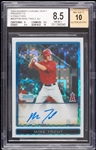 2009 Bowman Chrome Mike Trout RC Auto XFractor No. BDPP89 (7/225) BGS 8.5 (AUTO 10)
