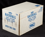 1982 Fleer Baseball Vending Sealed Case (12,000)