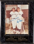 Mickey Mantle & Roger Maris Signed 8x10 Photo (Graded BAS 10)