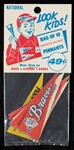 Unopened Package of 1963 Post Cereal NL Premium Pennants