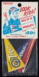Unopened Package of 1963 Post Cereal AL Premium Pennants