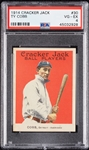 1914 Cracker Jack Ty Cobb No. 30 PSA 4
