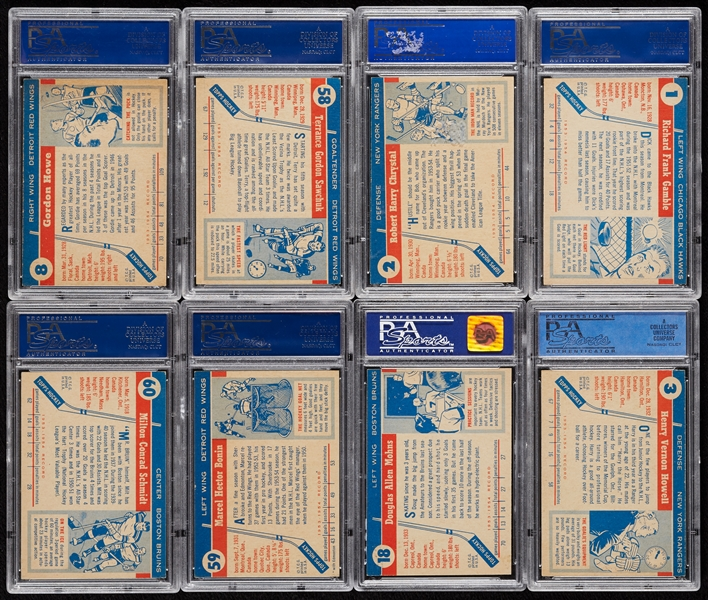 1954 Topps Hockey PSA-Graded Complete Set - PSA Set Registry No. 20 (60)