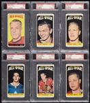 High-Grade 1964 Topps Hockey 'Tall Boys' PSA-Graded Set - PSA Set Registry No. 17 (110)