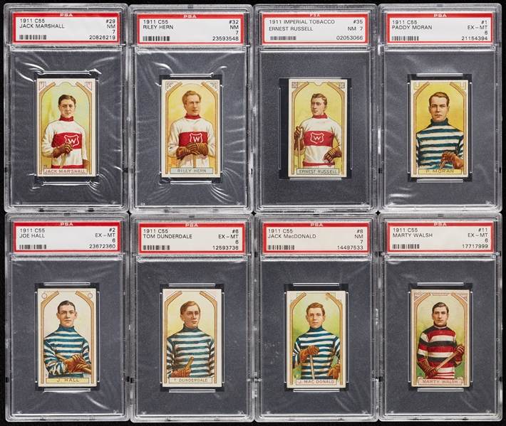 Stunning High-Grade 1911 C55 Imperial Tobacco Hockey PSA-Graded Master Set - PSA Set Registry No. 6 (46)