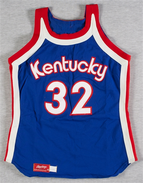 Jimmie Baker 1975-76 Game-Used Kentucky Colonels Complete Road Uniform (Jersey & Shorts)