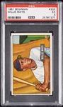 1951 Bowman Willie Mays RC No. 305 PSA 5