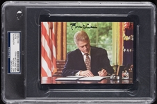 Bill Clinton Signed Oval Office Postcard (PSA/DNA)