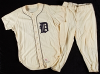 Mickey Lolich 1968 Game-Used Detroit Tigers Postseason Set 3 Home Flannel Jersey & Pants