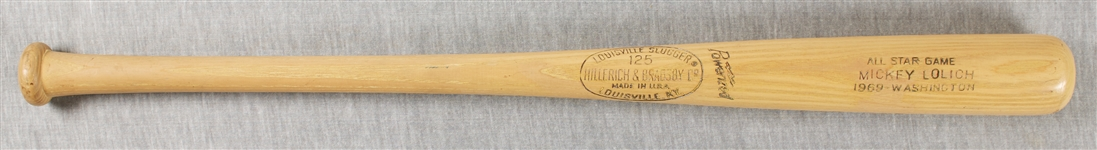 Mickey Lolich 1969 All-Star Game Bat