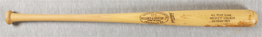 Mickey Lolich 1971 All-Star Game Bat