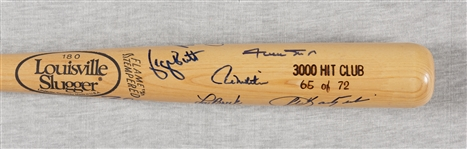 3000 Hit Club Multi-Signed Louisville Slugger Bat (65/72) (13) (BAS)