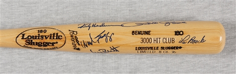 3000 Hit Club Multi-Signed Louisville Slugger Bat (8/36) (13) (BAS)