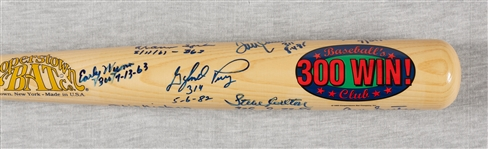 300 Win Club Multi-Signed Cooperstown Logo Bat (8) (BAS)