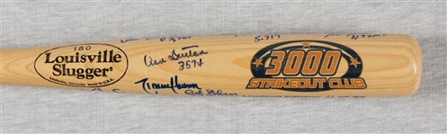 3000 Strikeout Club Multi-Signed Louisville Slugger Logo Bat (11/34) (11) (TriStar) (BAS)