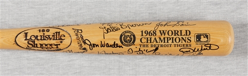 1968 Detroit Tigers World Champs Team-Signed LS Bat (25) (BAS)