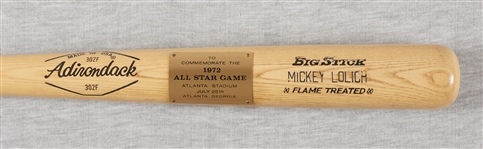 Mickey Lolich 1971 All-Star Game Adirondack Presentation Bat