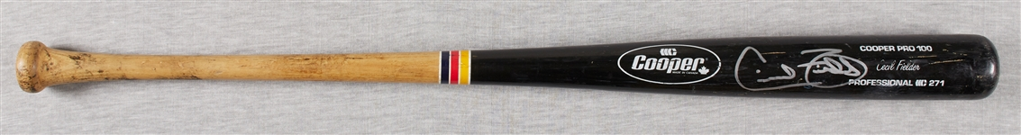 Cecil Fielder Game-Used & Signed Cooper Bat (BAS)