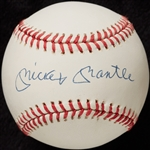Mickey Mantle Single-Signed OAL Baseball (Graded BAS 9)