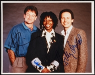 Robin Williams, Billy Crystal & Whoopi Goldberg Signed 8x10 Photo (3) (BAS