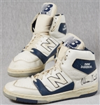 Adrian Dantley Game-Used & Signed New Balance Shoes (2)