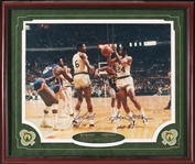 Bill Russell & Sam Jones Signed 16x20 Framed Photo (PSA/DNA)