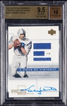 2001 UD Pros & Prospects Johnny Unitas Piece of History Autos #JUAJ BGS 9.5 (AUTO 10)