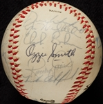 1978 San Diego Padres Team-Signed Baseball with Ozzie Smith Rookie (21)