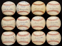 1973 Detroit Tigers Team-Signed Baseballs (12)